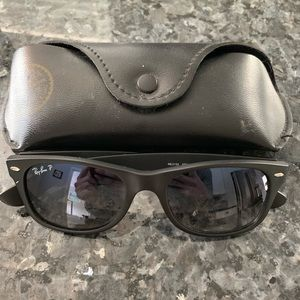 100% authentic new wayfarer ray bans.  Polarized!